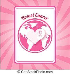 breast cancer design, vector illustration eps10 graphic