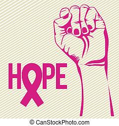 breast cancer over lineal background vector illustration