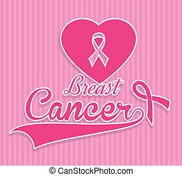 breast cancer over pink background vector illustration