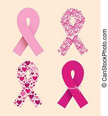 breast cancer over white background vector illustration