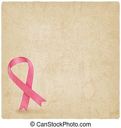 breast cancer ribbon old background