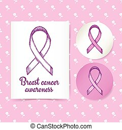 Breast canser awareness ribbon - Breast cancer awareness...