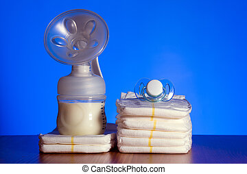 breast pump and diapers