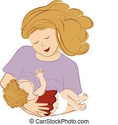 breastfeeding, 母