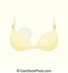 Breastfeeding bra vector Illustration on a white background...