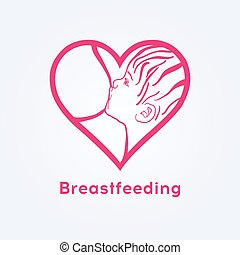 Breastfeeding coalition emblem, breastfeeding week logo,...
