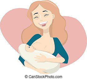breastfeeding, matka, baby.