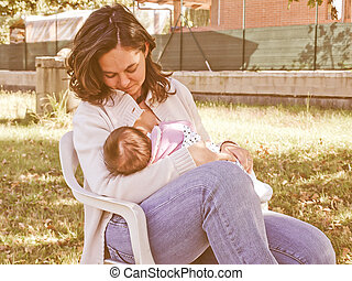 Breastfeeding vintage