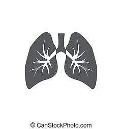 Breathe icon on white background