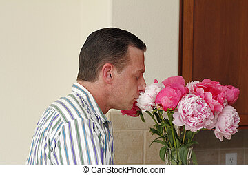 Breathing in the Scent of Peony Flowers