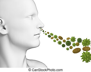 Breathing pollen