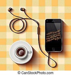 brechen, bohnenkaffee