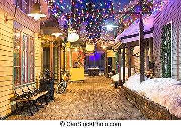 Breckenridge, Colorado, USA downtown streets