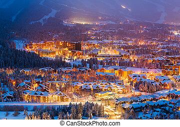 Breckenridge, Colorado, USA in Winter