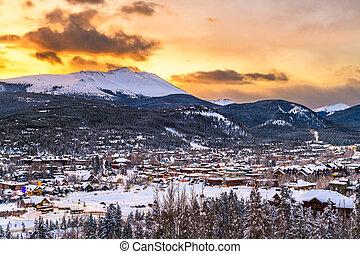Breckenridge, Colorado, USA Town Skyline