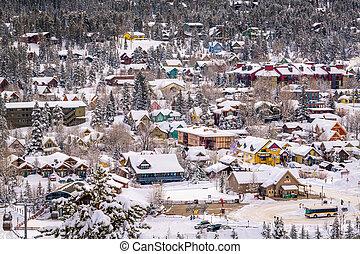Breckenridge, Colorado, USA town skyline in winter