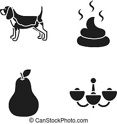 Breed, Cooking and or web icon in black style.cleanliness, lighting icons in set collection.