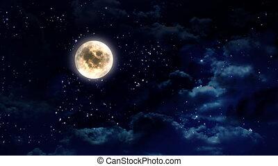 breed, duidelijk, maan