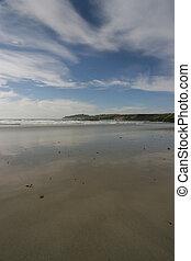 breed, strand, aanzicht