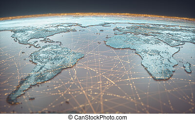 breed, web, digitale , connectivity, wereld, technologie