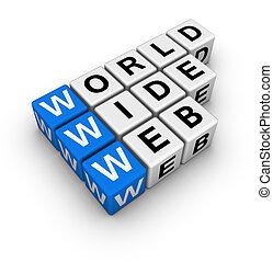 breed, woord, web