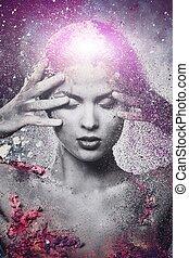 breekbaarheid, van, een, menselijk, schepsel, conceptueel,...