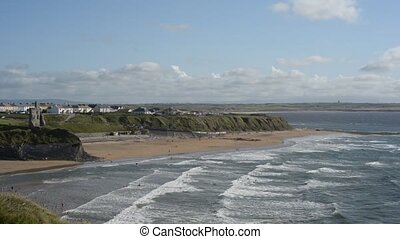 Breezy summer day at Ballybunion be - A breezy summers day...