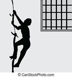 breker, gevangenis