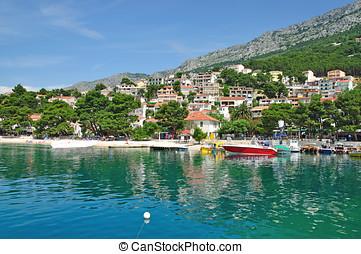 Brela,Makarska Riviera,Croatia - Village of Brela,Makarska...