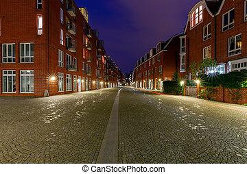 Bremen. Embankment Schliachte.