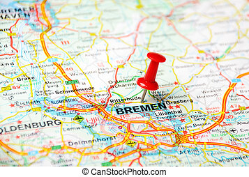Dortmund Germany Map Close Up Of Dortmund Germany Map With Red
