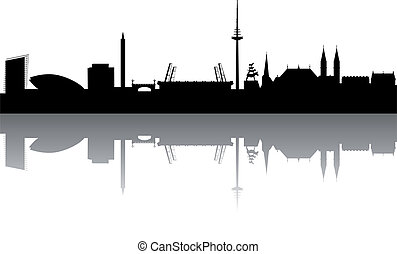 Bremen Skyline abstract