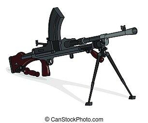 Bren machine gun - A technical illustration of a ww2 bren ...