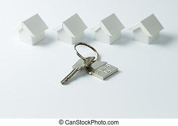 brengen oplossing onder, voor, vastgoed, concept