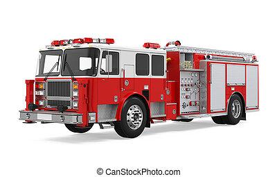 brennen lastwagen, rettung, freigestellt