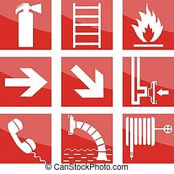 brennen sicherheit, zeichen & schilder