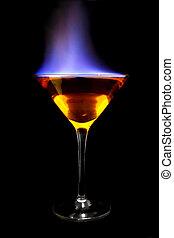 brennender, cocktail