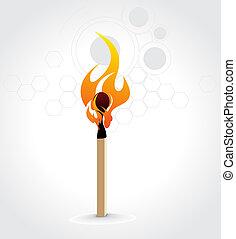 brennender, passen stock