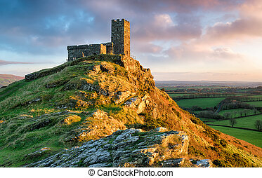 Brentor Chapel - A chapel perched on the top of Brentor on...