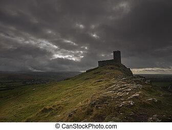 Brentor Church gothic - Brentor Church Dartmoor National ...