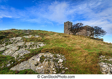 Brentor church perched on a rocky hilltop on Dartmoor ...