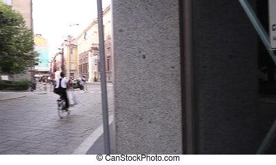 MILAN, ITALY - SEPTEMBER, 04: View of Brera district on September 04, 2015