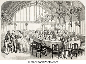 Brest Banquet - Banquet in honour of Napoleon III and...