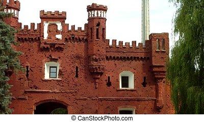 Brest Fortress in Brest, Belarus. - The Kholmsky gate at the...
