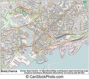 Brest France city map