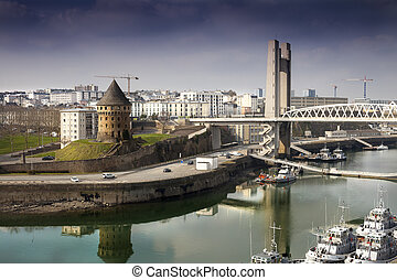 Brest - Different architecture stíles from different ages in...