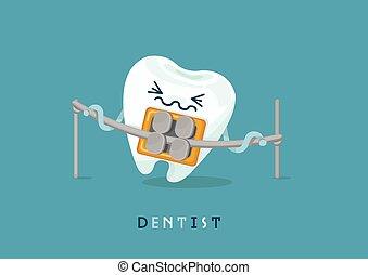 bretels, tand