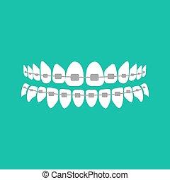 bretels, teeth