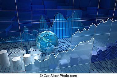 brett, stock market, abstrakt