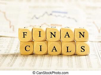 brev, concept:, terninger, financials